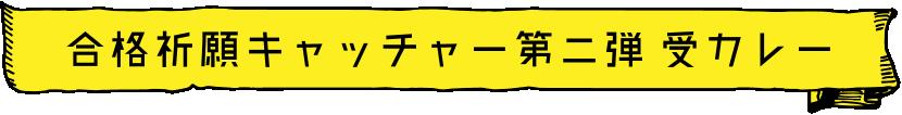合格祈願キャッチャー第二弾 受カレー