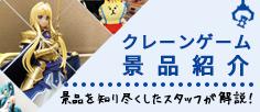クレーンゲーム景品・プライズ詳細情報!!